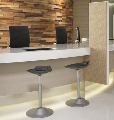 Via Muvman Standing Support Stool in work environment *Grey base not available