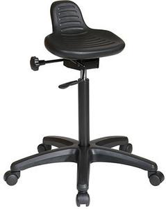 Self-Skinned Urethane Saddle Seat Stool with Seat Angle Adjustment