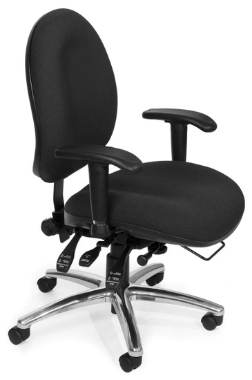 OFM 24/7 Big & Tall Computer Task Chair in Charcoal Fabric