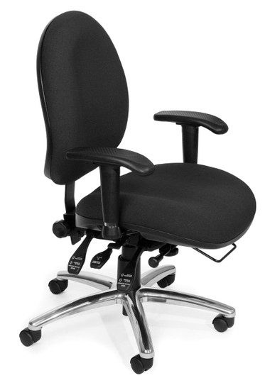 OFM 24/7 Big & Tall Computer Task Chair in Black Fabric