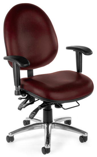 OFM 24/7 Big & Tall Computer Task Chair in Wine Vinyl