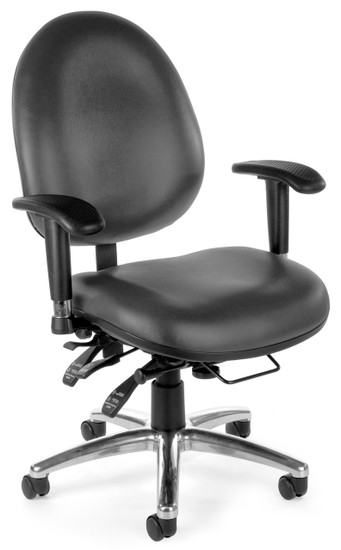 OFM 24/7 Big & Tall Computer Task Chair in Charcoal Vinyl