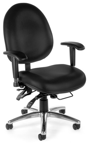 OFM 24/7 Big & Tall Computer Task Chair in Black Vinyl
