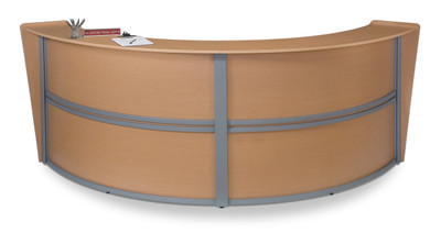 Marque Double Unit Reception Station in Maple
