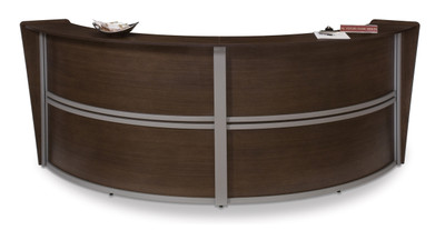 Marque Double Unit Reception Station in Walnut