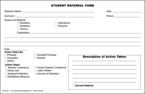 student referral form srf1 supreme school supply