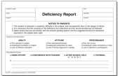 Deficiency Report, Triplicate (DR-1)