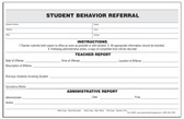 Student Behavior Referral (6608)