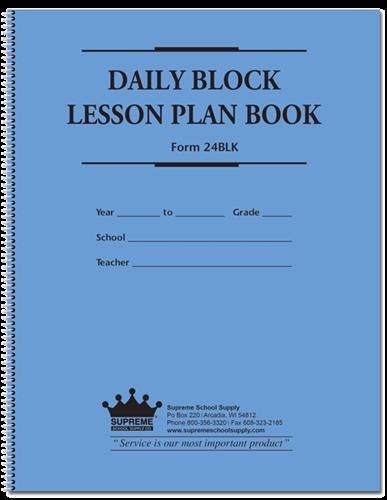 daily block lesson plan book 24blk supreme school supply