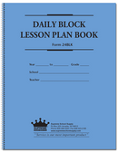 Daily Block Lesson Plan Book (24BLK)