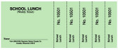 Weekly Lunch Ticket, Perforated-Numbered (28AN-NM)