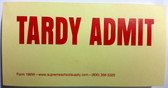 Tardy Admit Slip, Yellow (196W)