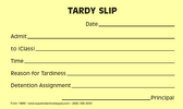 Tardy Slips, Yellow (196M)