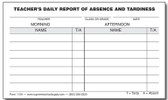 Daily Absent / Tardy Report (112A)