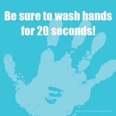 Wash Hands 20 Seconds Sticky Note Pad (POST13)
