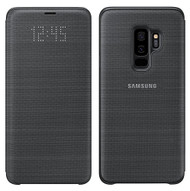 Official Original Genuine Samsung LED Notification Flip Cover Case for Samsung Galaxy S9+ (S9 Plus) - EF-NG965PBEGWW - Black