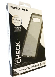 Genuine Tech21 Flexshock Evo Check Case for Note 8 - Smokey/Black