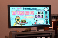 Brickstuff Brickville Diner Animated Billboard  - KIT23-BD