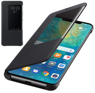 Official Huawei Mate 20 Pro Smart View Flip Cover - Black - 51992696