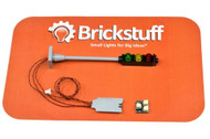 Brickstuff Basic Brick-Built Traffic Light for Lego City Models - KIT17B