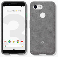 Official Google Pixel 3 Fabric Case Cover - Fog (GA00490)