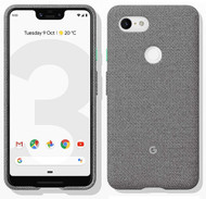 Official Google Pixel 3 XL Fabric Case Cover - Fog (GA00498)