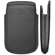 Official BlackBerry ACC-56744-001 Leather Pocket Case for BlackBerry 9720 - Black