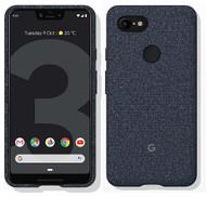 Official Google Pixel 3 XL Fabric Case Cover - Indigo (GA00496)