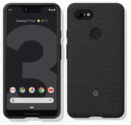 Official Google Pixel 3 XL Fabric Case Cover - Carbon (GA00494)