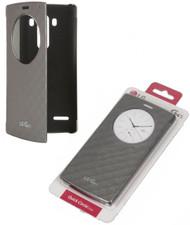 LG CFV-110 QuickCircle Case Flip Wallet for LG G4s Smartphone - Silver