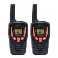 Cobra AM645 Compact Walkie Talkie with VOX, Call alert, 8km Range, Power Saving Function and includes Rechargeable Batteries (2 Pack) - Black