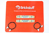 Brickstuff Warm White LED Strip and Connecting Cable (2-Pack) for LEGO® Models - LEAF02-WW-2PK