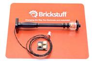 Brickstuff Black Street Lamp Post with Warm White Pico LED  - LEAF01-SLAMPB