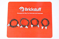 "Brickstuff 12"" Extension Cables for the Brickstuff LEGO® Lighting System (4-Pack)  - GROW12"