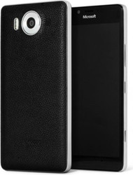 Genuine Mozo Qi Wireless Charging Back Cover Case with NFC for Microsoft Lumia 950 - Black / Silver - 950BBSWN