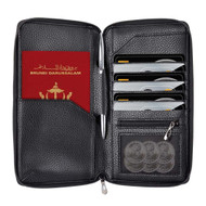 InventCase PU Leather RFID Blocking Passport / ID Card / Money Wallet Organiser Holder Case Cover for Brunei Passports - Black