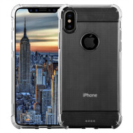 InventCase Premium Carbon Fibre Brushed TPU Gel Case Cover Skin for the Apple iPhone X (5.8 inch) - Translucent