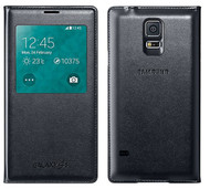 Genuine Official Samsung S-View Case Flip Cover for Samsung Galaxy S5 - Black (EF-CG900BBEG)