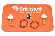 "Brickstuff Gold Table Lamps (2-Pack) with 12"" Cables and Connecting Adapter- QK9-GO"