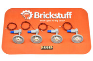 "Brickstuff Warm White Ceiling Lights with 12"" Cables (4-Pack) and Connecting Adapter - QK7"