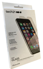 New Genuine Official Tech21 Evo Glass Screen Protector Impact Shield for Apple iPhone 6 / iPhone 6s - Clear