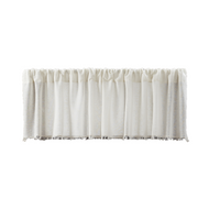 Tobacco Cloth Antique White Valance Fringed 16x72