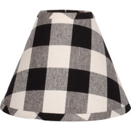Buffalo Check Black - Buttermilk Lampshade