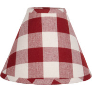Buffalo Check Barn Red - Buttermilk Lampshade