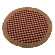 Heritage House Lace Barn Red - Nutmeg Candle Mat