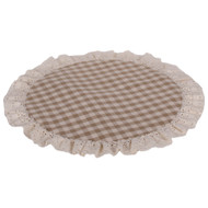 Heritage House Lace Oat - Cream Candle Mat