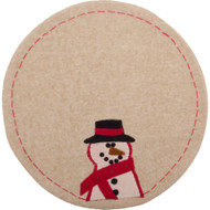 Happy Snowman Nutmeg Candle Mat