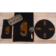 CAW! Black Candle Mat