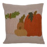 Pumpkin Field Gray Pillow
