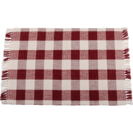 Buffalo Check Barn Red - Buttermilk Placemat